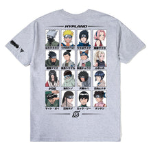 Load image into Gallery viewer, NARUTO LEAF VILLAGE TEAM SHIRT (HEATHER GREY)