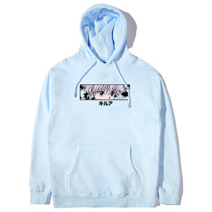 HXH KILLUA EYES HOODIE (POWDER BLUE)
