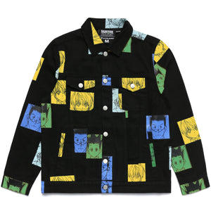 HXH COLOR DENIM JACKET (BLACK)