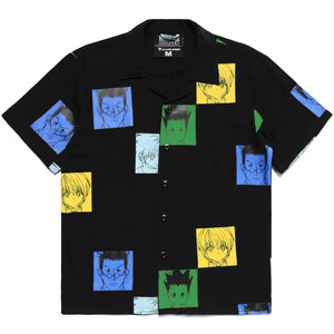 HXH COLOR BUTTON UP SHIRT (BLACK)