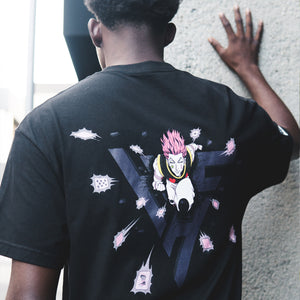 HXH HISOKA BREAK THROUGH SHIRT (BLACK)