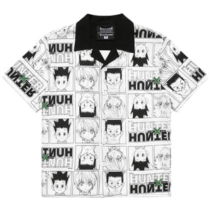 HXH CHARACTER BUTTON UP SHIRT (WHITE)