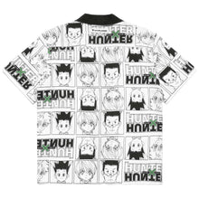 Load image into Gallery viewer, HXH CHARACTER BUTTON UP SHIRT (WHITE)