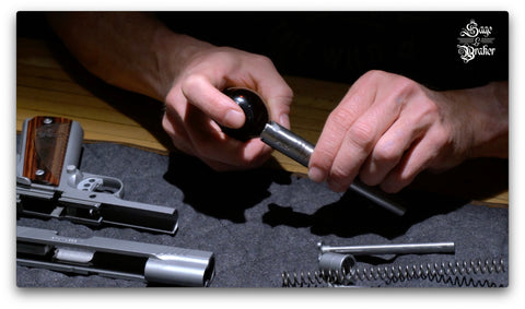 Kimber 1911 cleaning gun with clp