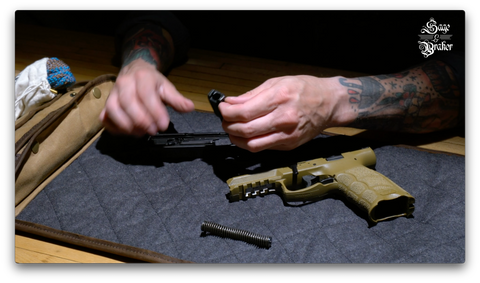 How to remove the barrel on a H&K VP9 handgun