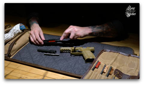 How to clean a H&K VP9 pistol with gun cleaning brushes