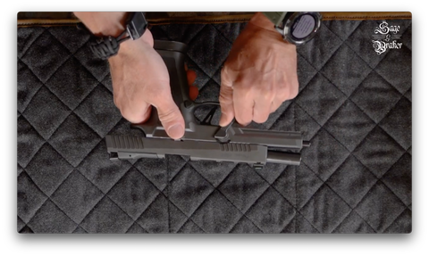 How to disassemble Sig Sauer P320 takedown lever
