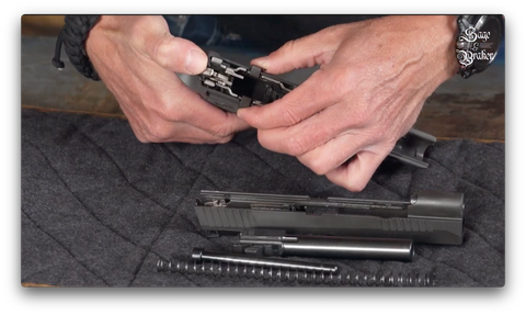 How to remove firearm control assembly Sig Sauer P320 X5 Legion pistol