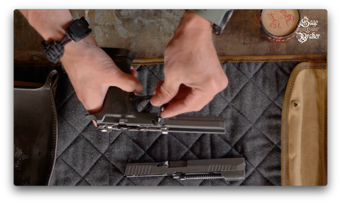 How to reassemble takedown lever in Sig Sauer P320 X5 Legion pistol