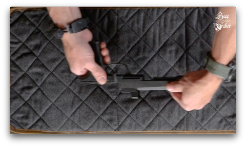 How to remove the slide from a Sig Sauer P365 handgun