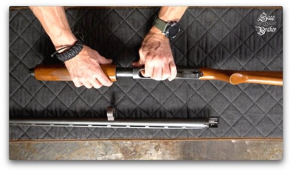 how to remove forend of a Remington 870 shotgun