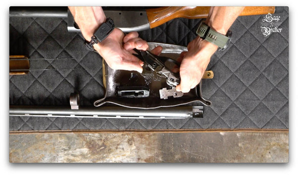 how to release hammer in a Remington 870 shotgun