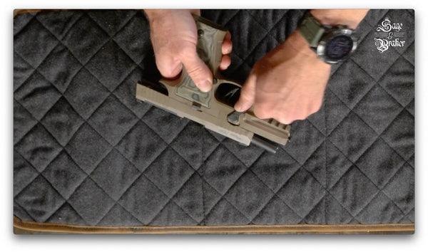 sig sauer p320 removing takedown lever