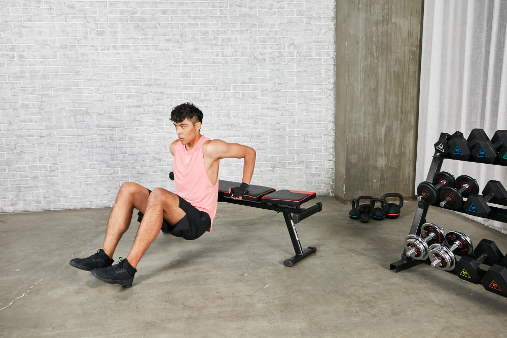 Work(out) from home: Full body workout with only a bench