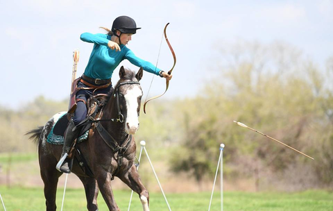 Training with Horse Archer Hilary Merrill using Fouganza Gear