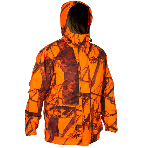 Solognac 300, Hunting Jacket, Men's,safety vest orange