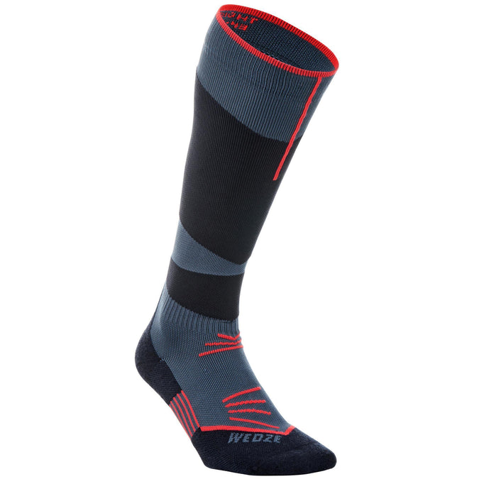 Adult Ski Socks 500,abyss gray, photo 1 of 6