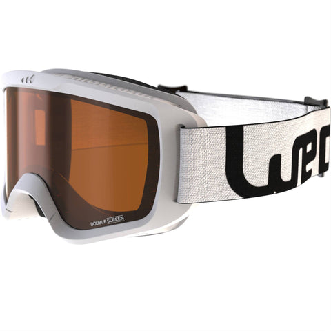 Adult and Junior Fine Weather Ski and Snowboard Goggles G 140,snowy white