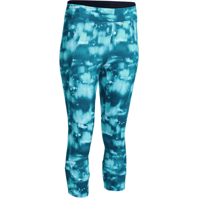 Domyos Energy, 7/8 Fitness Leggings, Women's,deep turquoise, photo 1 of 13