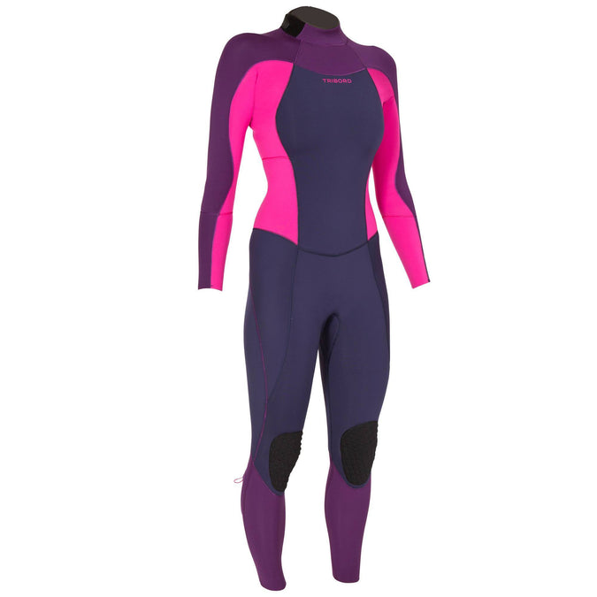 Women's Surfing Neoprene Wetsuit 900 - 3/2 mm,purple, photo 1 of 12