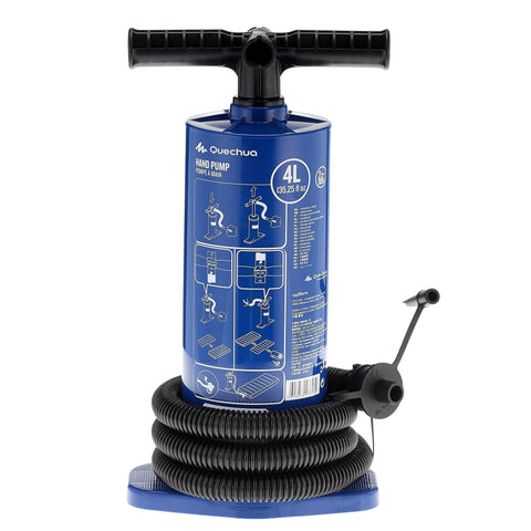 Double Action Hand Pump 4 L | Recommended for Inflatable Mattresses,light sky blue