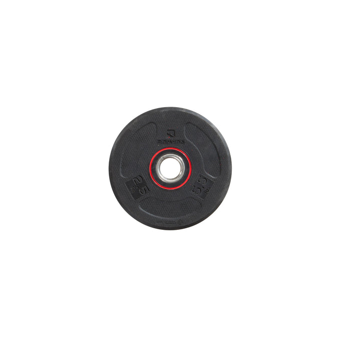 Domyos 28 mm Rubber Weight Disc, 5.5 lbs,black, photo 1 of 8