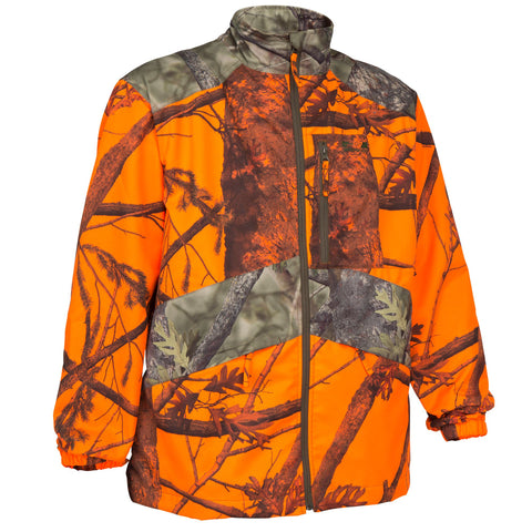 Men's Hunting Jacket Steppe 100,safety vest orange