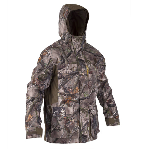 Men's Hunting Warm Waterproof Jacket Actikam 500,camouflage
