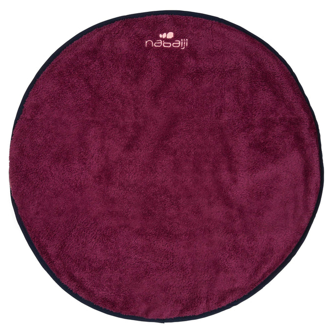 Double-Sided Soft Microfiber Swim Foot Towel,dark mulberry, photo 1 of 8