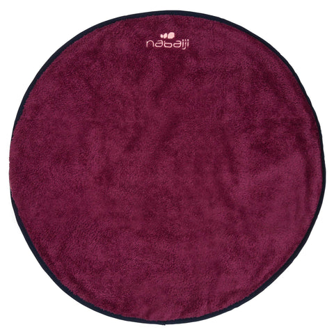 Double-Sided Soft Microfiber Swim Foot Towel,dark mulberry