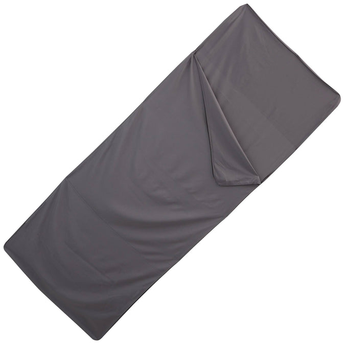 Quechua Polyester Sleeping Bag Liner,pewter, photo 1 of 6