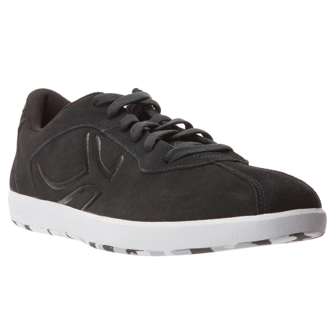 Men's Tennis Leather Shoes TS730,carbon gray, photo 1 of 9