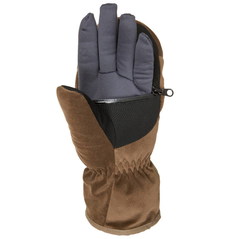 Men's Hunting Gloves Toundra 500,brown