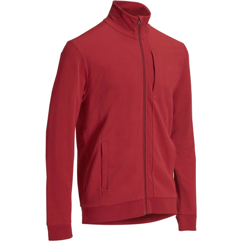 Gym & Pilates Plush-Loop Jacket,bordeaux