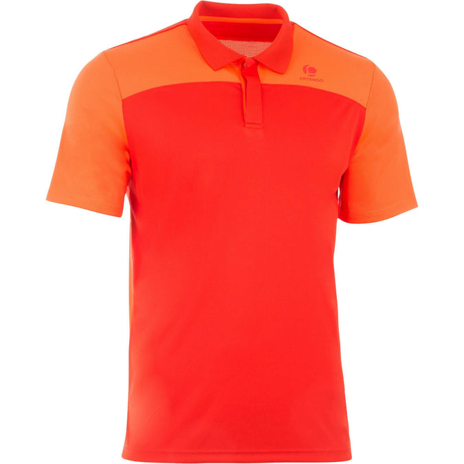 Men's Badminton Dry Polo Shirt 900,blood red, photo 1 of 14