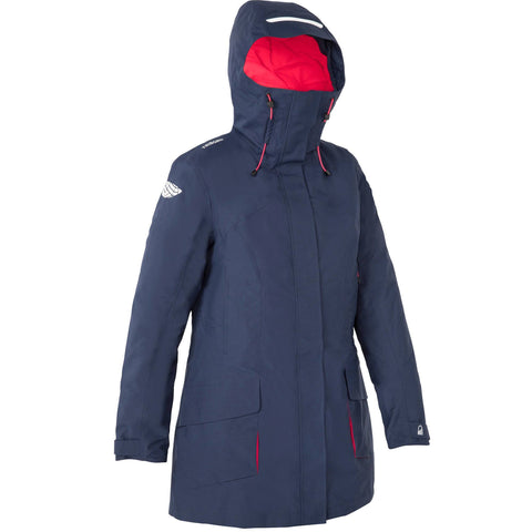 Women's Sailing Parka Jacket 500,navy blue