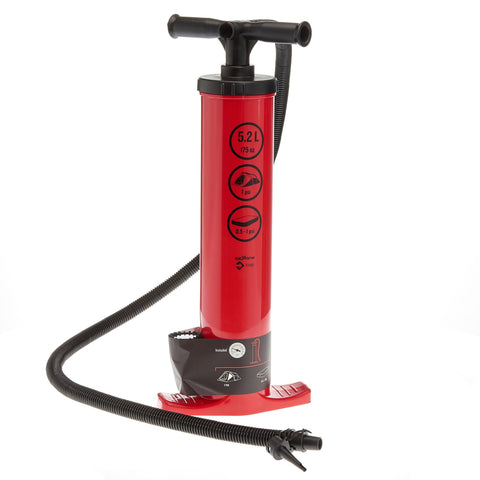 Double Action Manual Pump 5.2 L - 7 PSI | Recommended for Inflatable Tents,red