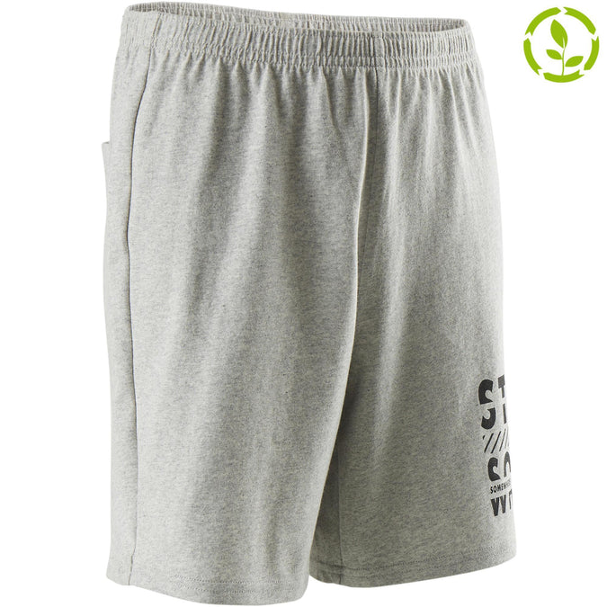 Boys' Gym Shorts Recycled 100,gray, photo 1 of 7