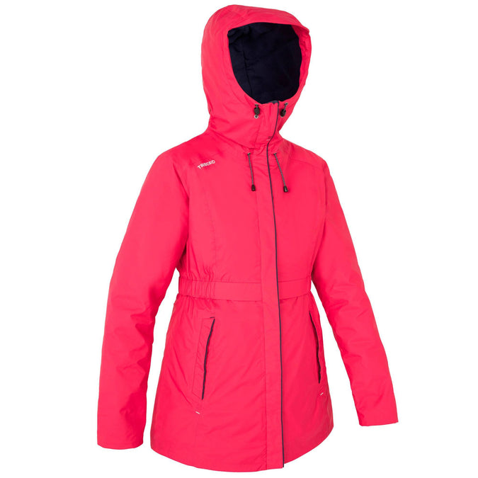 Women's Sailing Oilskin Jacket 100,raspberry red, photo 1 of 11