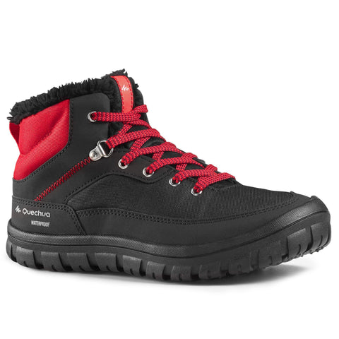 Quechua Mid SH100, Laced Snow Hiking Boots, Kids',