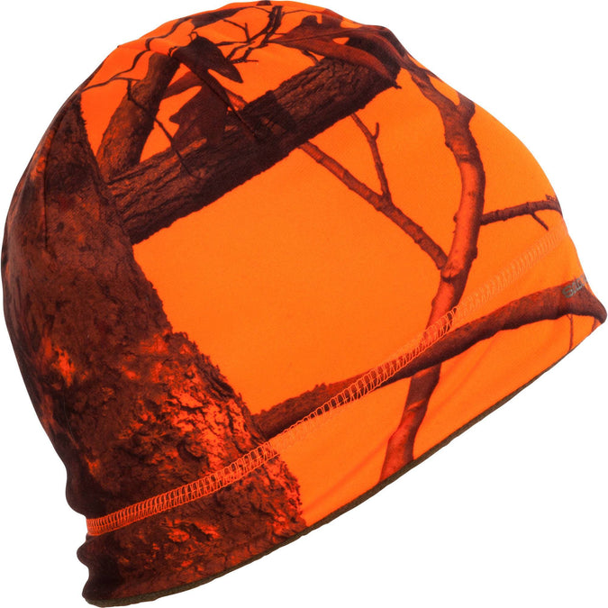 Hunting Reversible Hat 500,safety vest orange, photo 1 of 6