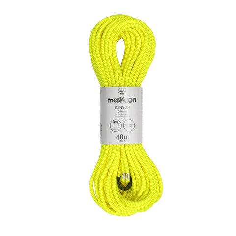 Canyoning Rope Type B Maskoon Canyon Semi-Static,neon yellow