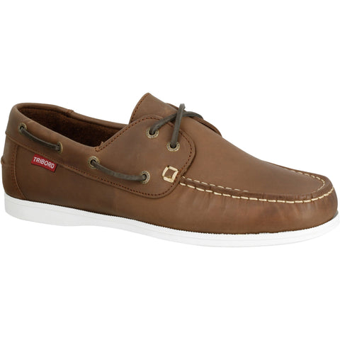 Men's Sailing Boat Shoes CR500,dark chocolate truffle