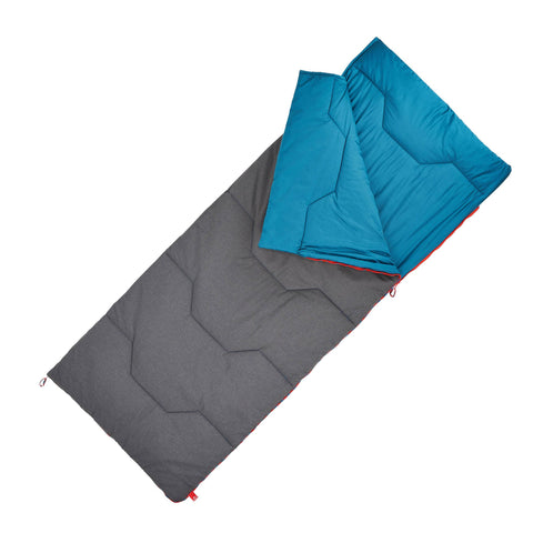 Camping Sleeping Bag Cotton Arpenaz 50°,dark petrol blue