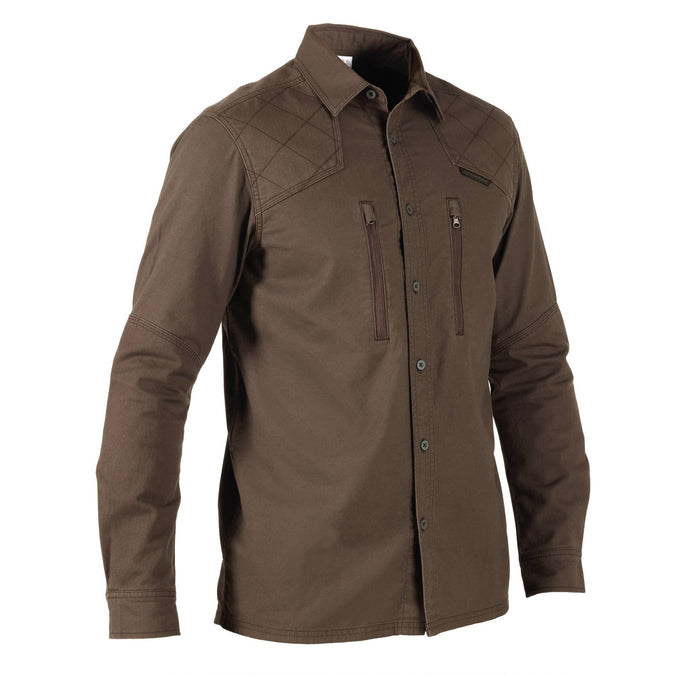 Men's Hunting Reinforced Long-Sleeve Shirt 520,coffee, photo 1 of 11