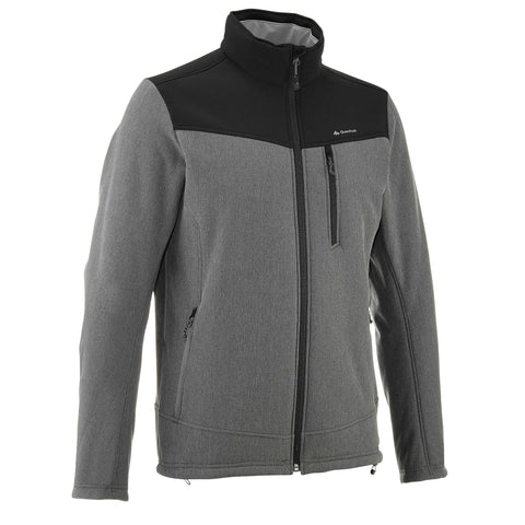 Men's Trekking Softshell Jacket WindWarm 300,pewter