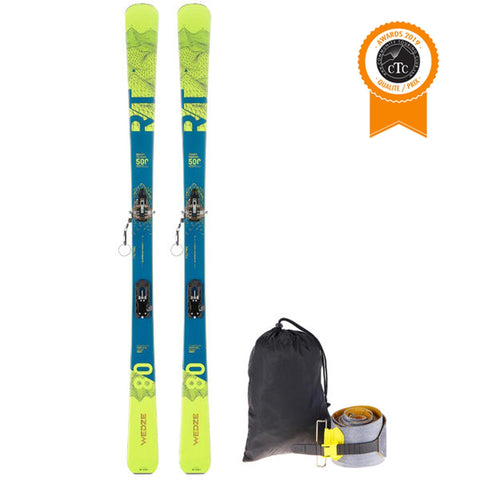Wedze RT500, Alpine Touring Ski Setup,base color