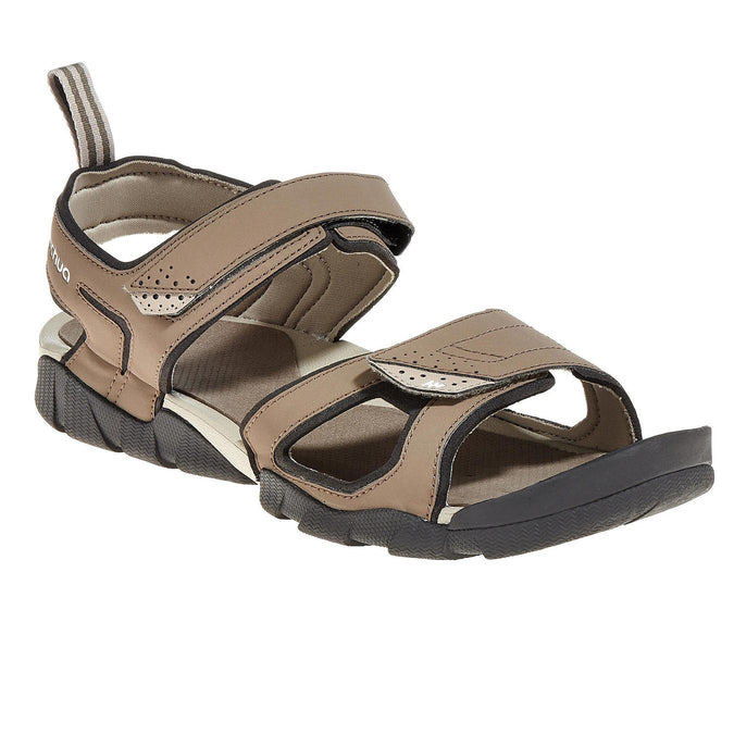 Men's Country Walking Sandals NH100,dark sand, photo 1 of 25
