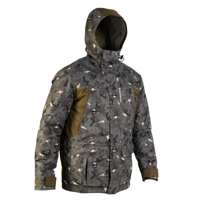 Men's Hunting Warm Waterproof Parka 500,dark khaki, photo 1 of 16