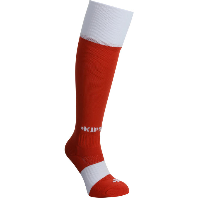 Rugby Knee-Length Socks Full H500,scarlet red, photo 1 of 5